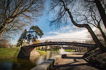 fontein in het Anton van Duinkerkepark, Bergen op Zoom van Lars Mol