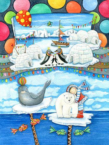 ICE LAND - Kunst voor Kinderen van Atelier BuntePunkt