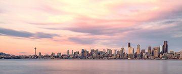 Seattle Skyline Sunset van Kevin Gysenbergs