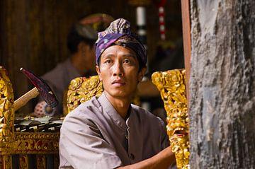 Balinese muzikant van wim verrijp
