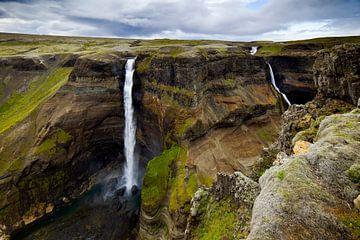 Háifoss te IJsland 2 van