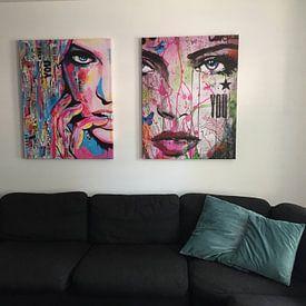 Klantfoto: You van Janet Edens, op canvas