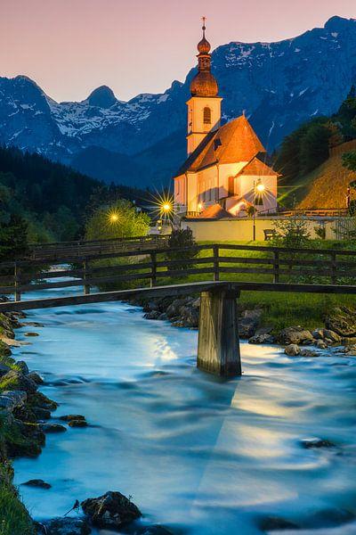 St Sebastian Church, Ramsau van Henk Meijer Photography
