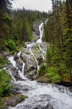 Waterval in het westen van Canada