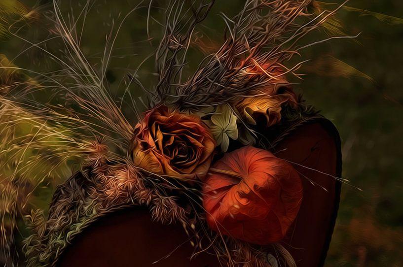 Trockenblumen van Gabriele Haase
