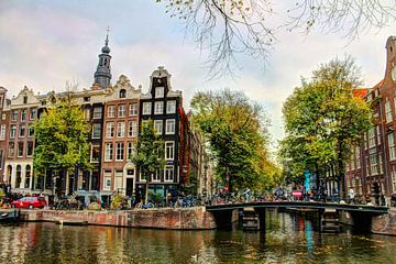 Kloveniersburgwal 50 Amsterdam le soir sur Hendrik-Jan Kornelis