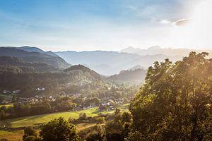 Zonsondergang in de vallei