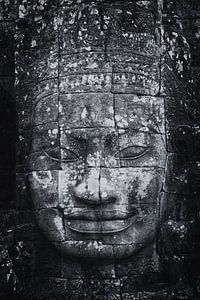Sculptuur van Budha  in de ruines van Angkor Wat One2expose