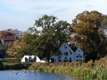 Witte Watermolen in Park Sonsbeek van Petra Dielman