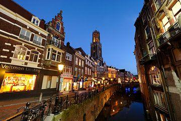 De Vismarkt in Utrecht met de Dom op de achtergrond (1) van