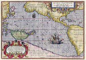 Karte des Pazifik, Abraham Ortelius