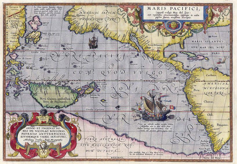 Maris Pacifici by Ortelius (1589) van Meesterlijcke Meesters