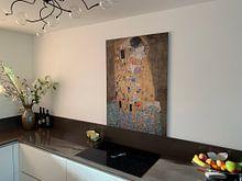 Kundenfoto: Der Kuss - Gustav Klimt, auf hd metal