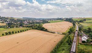 Luftaufnahme des Miljoenenlijntje in der Nähe der Haltestelle Eyser von John Kreukniet