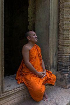 Mediterende monnik van Richard van der Woude