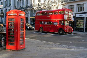 Londen bus en telefooncel van Humphry Jacobs