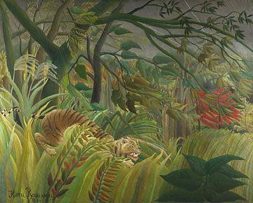 Tiger in einem tropischen Sturm, Henri Rousseau