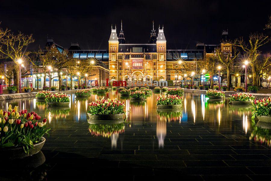 Rijksmuseum in de avond - Amsterdam