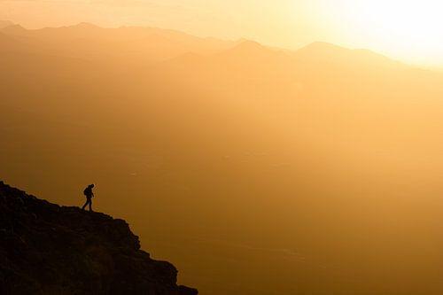 Zonsondergang met uitzicht van