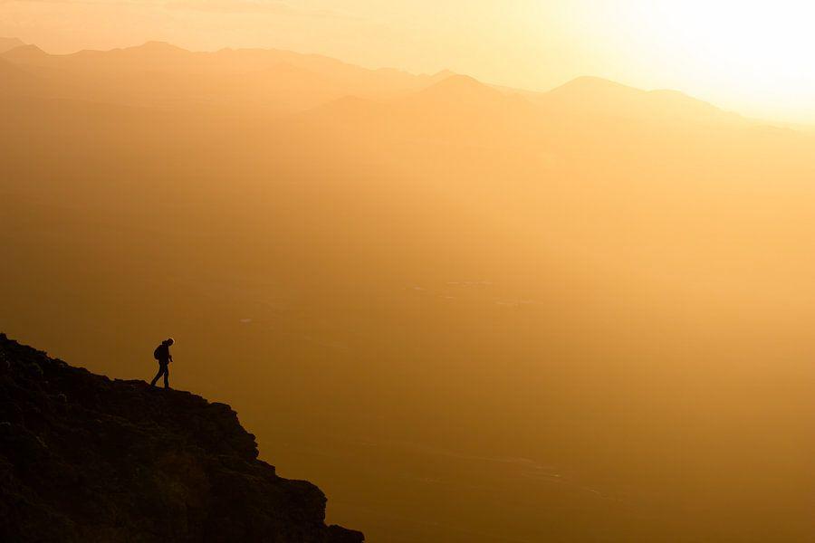 Zonsondergang met uitzicht