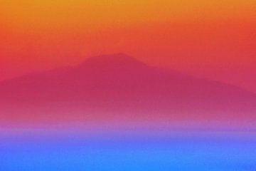 Warme Vulkaan Vesuvius en Koele Golf van Napels van Dirk van der Ven
