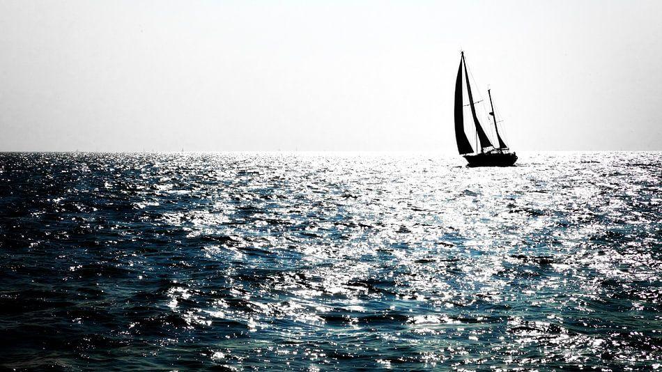 Zon op het water van Jan vd Knaap