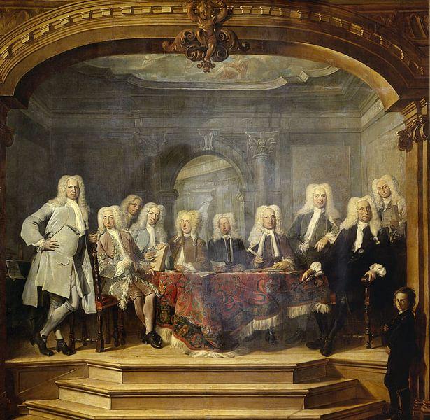 De regenten van het Aalmoezeniersweeshuis te Amsterdam, 1729, Cornelis Troost van Meesterlijcke Meesters
