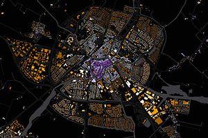 Kaart van Sneek abstract
