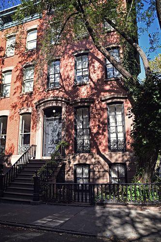 Straat in Manhattan, New York van