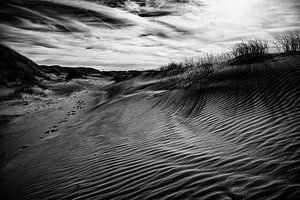 Zand, licht en schaduw van