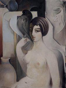Frau mit einer Taube, Sarkis KATCHADOURIAN - 1928-29