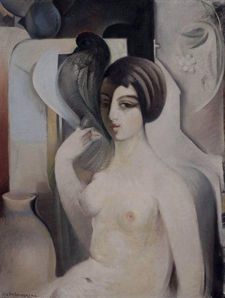 Frau mit einer Taube, Sarkis KATCHADOURIAN - 1928-29 von Atelier Liesjes