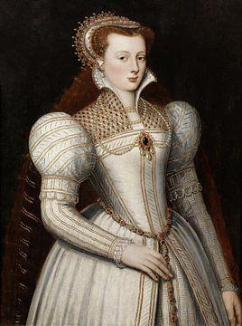 Portret van een vrouw, Frans Pourbus de jongere - ca. 1600