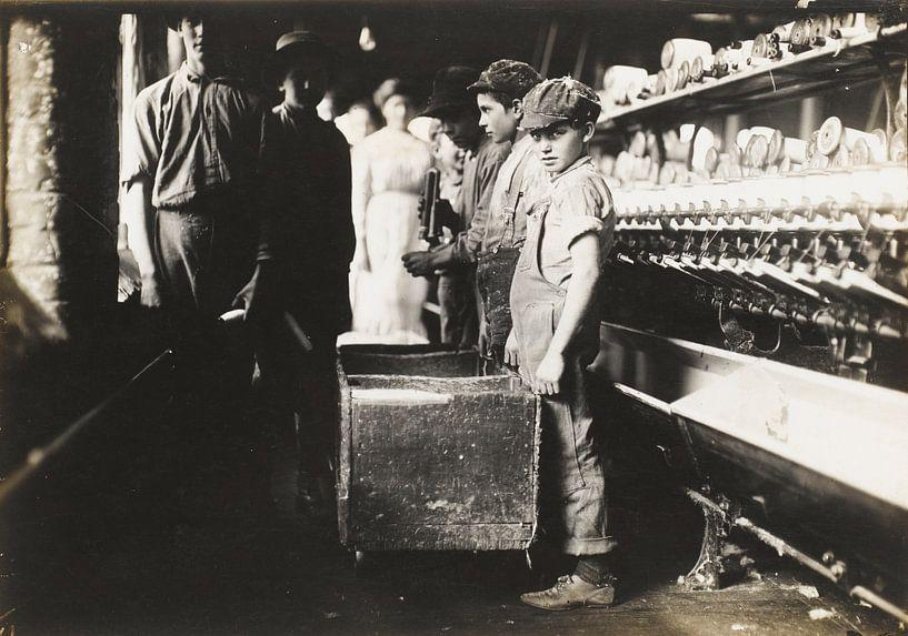 Jonge Doffers in de Elk Cotton Mills, Fayetteville, Tennessee van Vintage Afbeeldingen