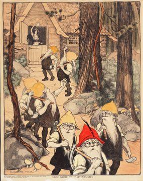 Sneeuwwitje en de zeven dwergen, Elizabeth Tyler... van Vintage Afbeeldingen