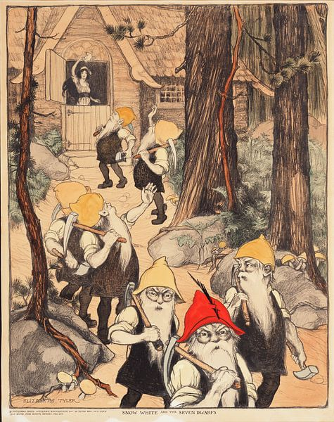 Schneewittchen und die sieben Zwerge, Elizabeth Tyler von Vintage Afbeeldingen
