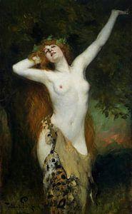 Topless Bacchante, ferdinand leeke