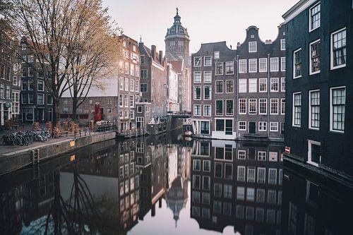 Amsterdam - grachtenpanden vanaf de armbrug