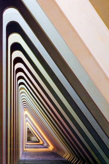 Abstract driehoeken perspectief Luik