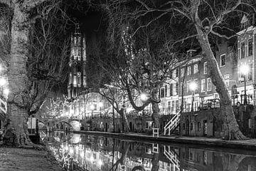 Utrechtse gracht en dom  van Elles Rijsdijk