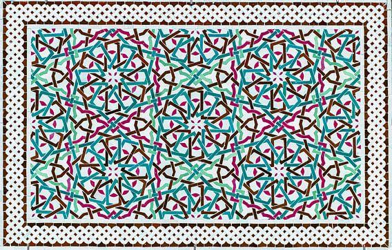 Marokkaans mozaïek, wandpaneel II