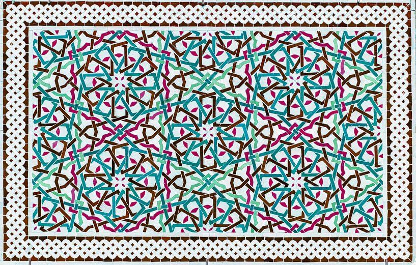 Marokkaans mozaïek, wandpaneel II van Rietje Bulthuis