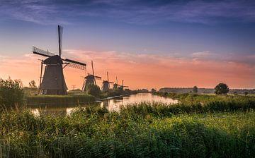 Kinderdijks molenlandschap  von Dennis de Waard