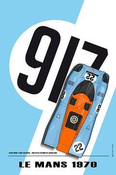 917 David Hobbs, Mike Hailwood Le Mans 1970