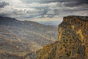 Woeste bergen in Oman