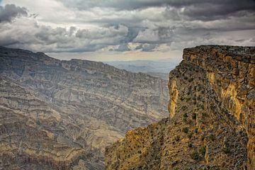 Zerklüftete Berge in Oman von