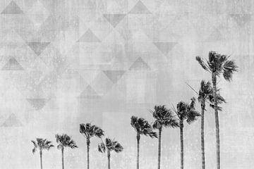 California Vibes | Monochrome Kunst von Melanie Viola
