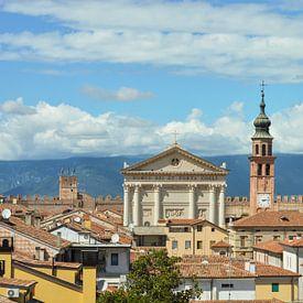 Fantastique vue panoramique sur la vieille Cittadella en Italie sur Patrick Verhoef