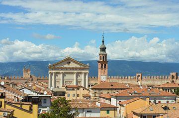 Fantastisch panoramisch zicht over het oude Cittadella in Italie