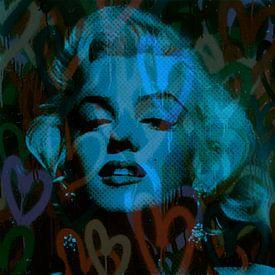 Marilyn Monroe Blue Love Pop Art von Felix von Altersheim